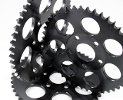 2072S- Steel Dished Rear sprocket with Zinc Plating. Made in USA